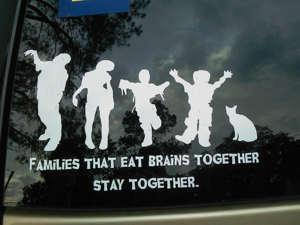Zombie Family Car Decals — GeekTyrant