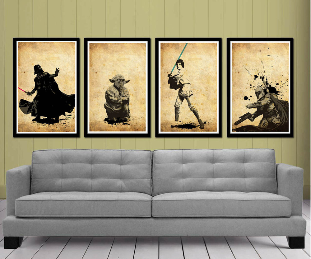 Adding These Star Wars Prints To My Walls Would Make Me Feel As Though I  Were In An Art Gallery. I Love The Simplicity Of These Pieces By Poster  Explosion.