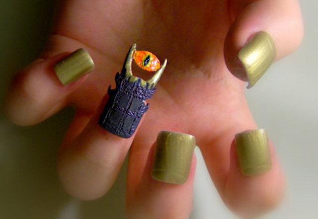 Awesome Eye Of Sauron Nail Art And More Geektyrant