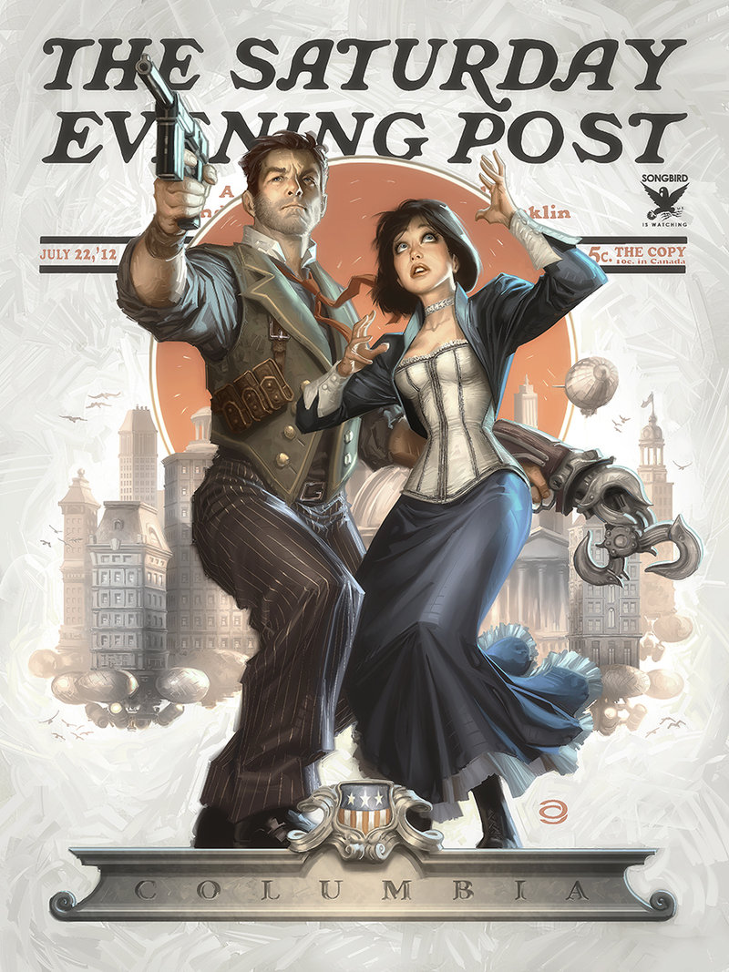 The Art of Bioshock Infinite first-person shooter video game 2016