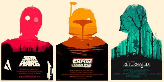 3 great new star wars trilogy posters from mondo tees! — geektyrant