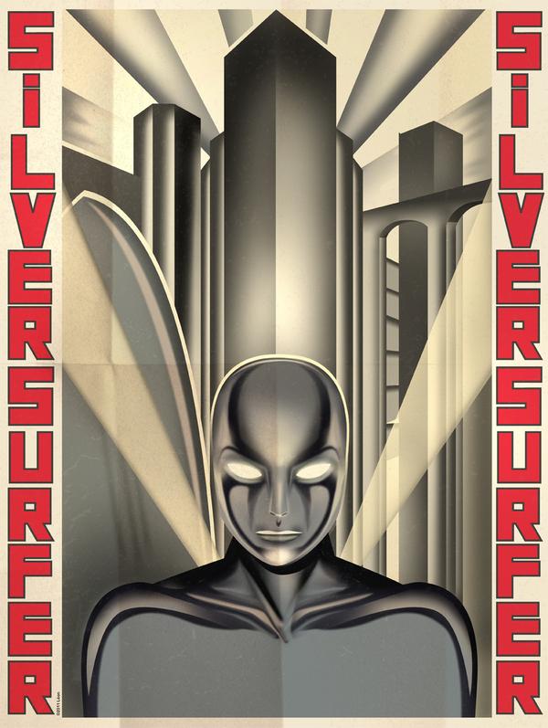 Great Superhero Poster Designs Art Deco Style Geektyrant
