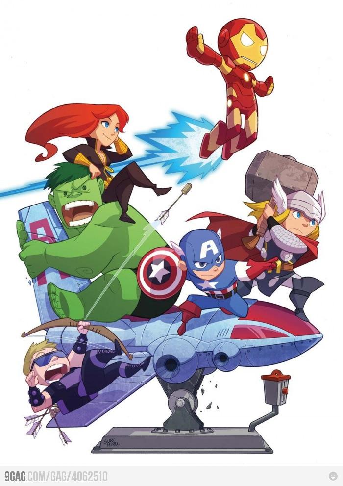 awesomely cute avengers geek art � geektyrant
