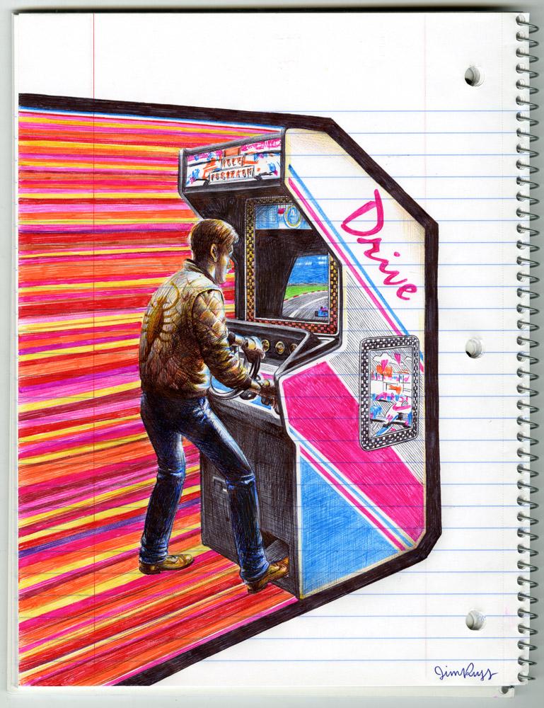 Awesome Ballpoint Pen Art By Jim Rugg Geektyrant