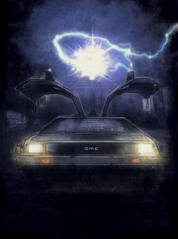 back to the future art does not need roads � geektyrant