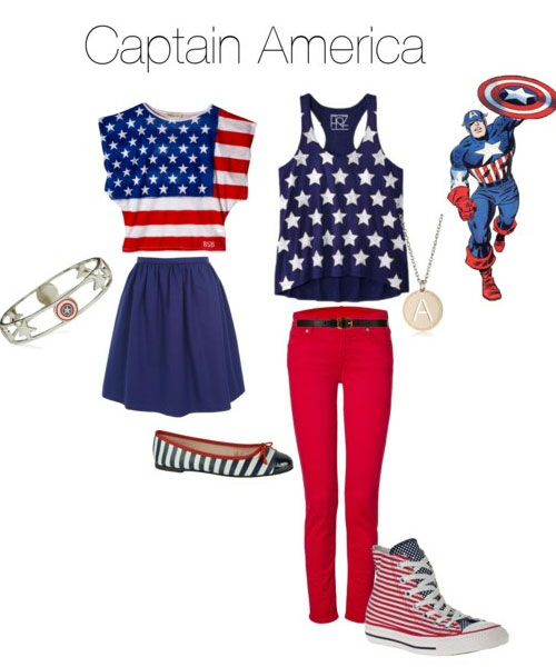 We also have American flag clothing for women like patriotic USA shorts, bikinis, dresses, and tons o' American flag accessories. Stuffed a lot in there didn't we. Yer welcome.