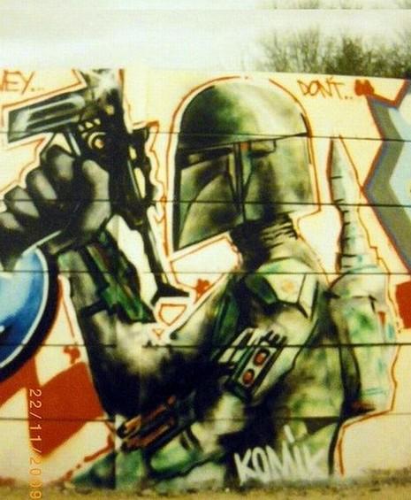 One Line Ascii Art Star Wars : Gorgeous star wars street art — geektyrant