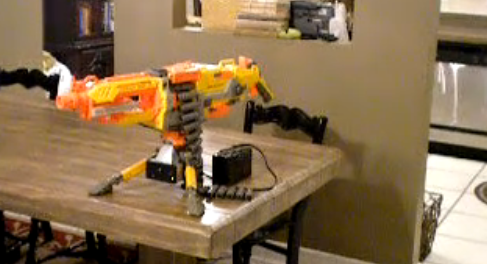 This awesome aliens-style Nerf heat tracking auto cannon was created by our  Geek of the Week, Rick Prescott. The modding of an Nerf Vulcan EBF-25TM  foam ...