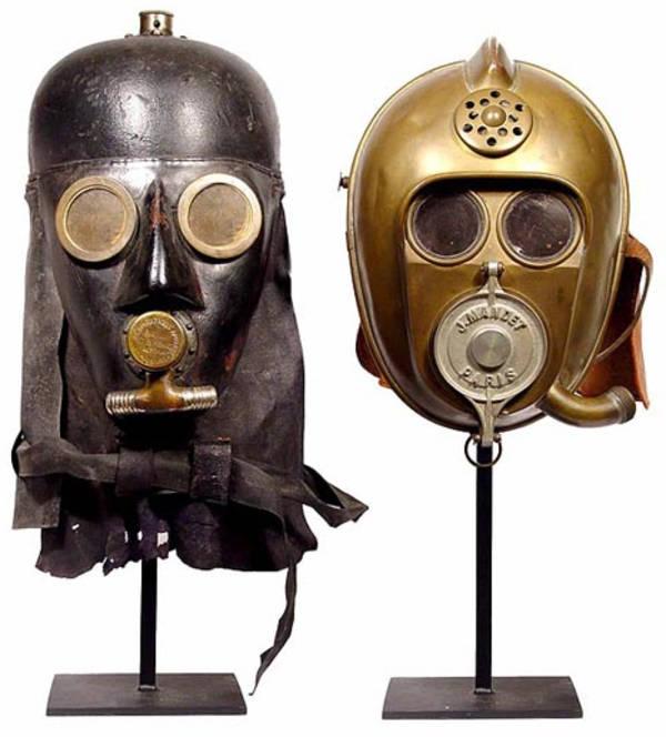 Smoke Helmet England World War I Flannel Glenbow Museum