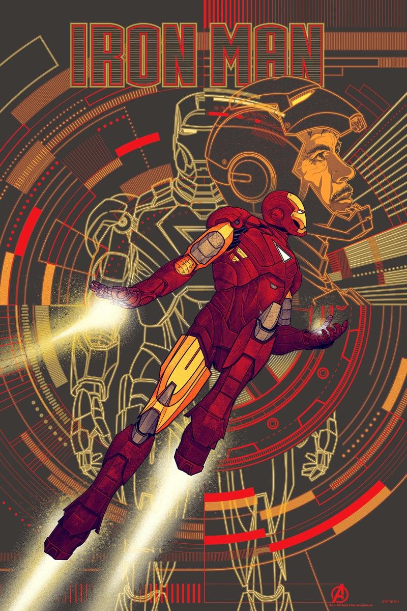 THE AVENGERS Mondo Poster Art - IRON MAN and CAPTAIN AMERICA ...