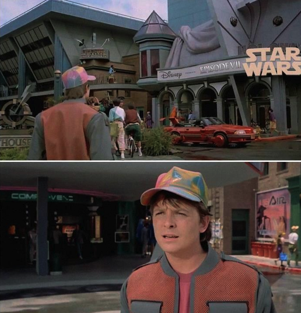 Marty McFly Shocked to See STAR WARS: EPISODE VII in 2015