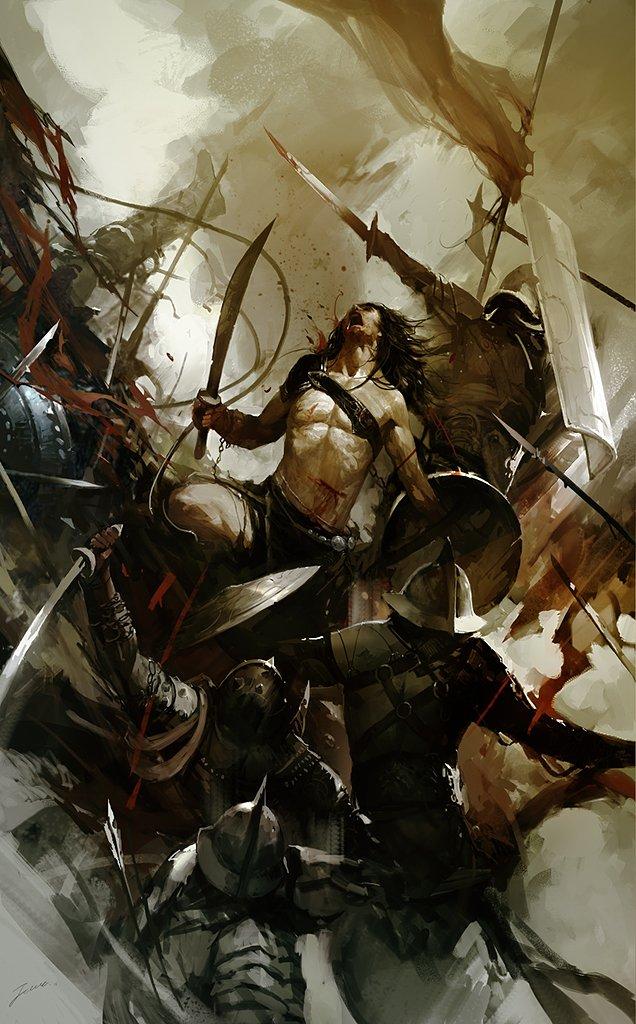 featured geek artist epic battle art of lin wenjun