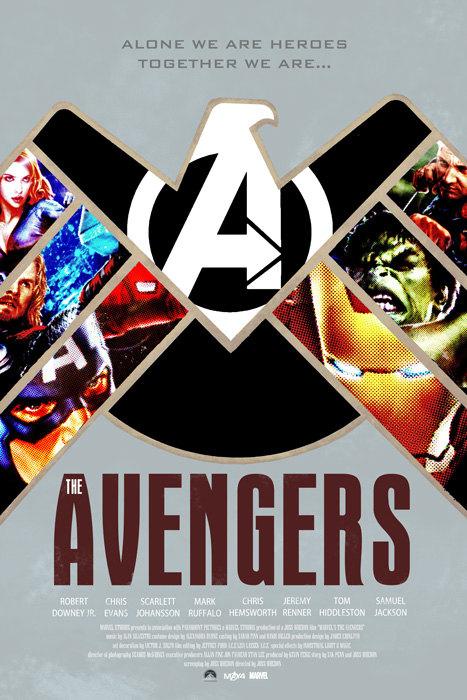 the avengers movie poster art by duke dastardly � geektyrant
