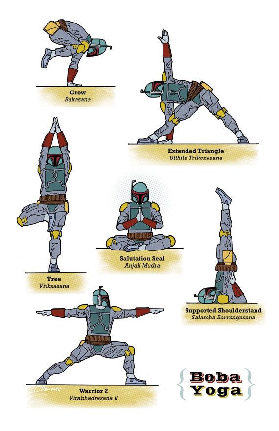 The Star Wars Galaxy Yoga Guide Yoda Yoga Geektyrant