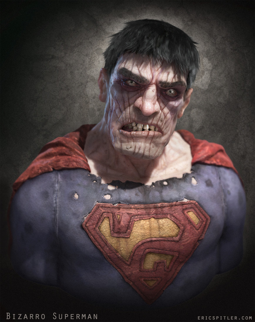 Creepy Bizarro Superman - Halloween Geek Art u2014 GeekTyrant