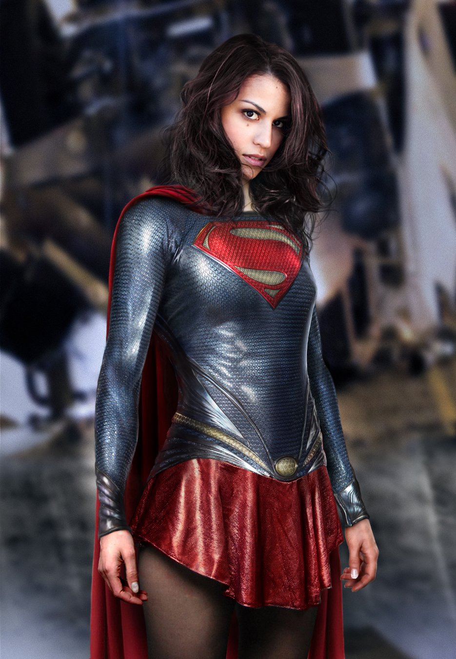 Man of Steel suit with latex texture nr1