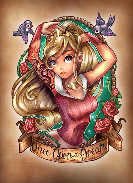 more tattooed disney princesses by tim shumate geektyrant