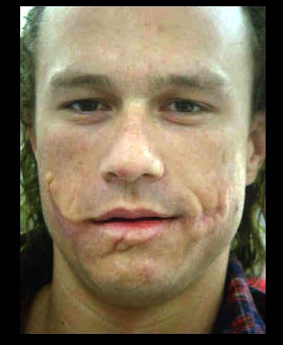 """Image of Heath Ledger as The Joker without the """"Joker ..."""