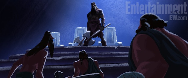 concept art for pixars brave short film the legend of mor