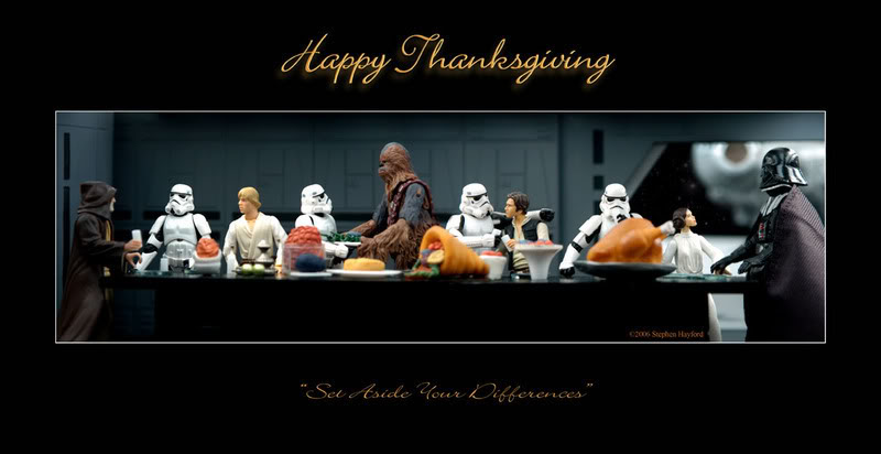Hilarious STAR WARS Action Figure Thanksgiving Scenes