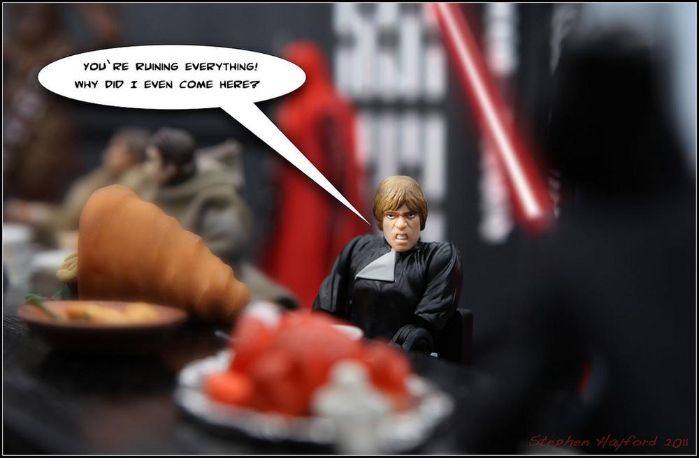 Hilarious Star Wars Action Figure Thanksgiving Scenes Geektyrant