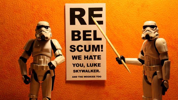 Funny star wars photo rebel scum