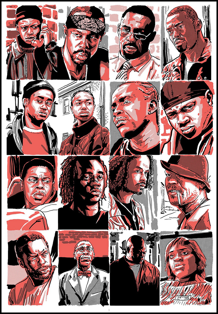 Tim Doyle Poster Art For THE WIRE GeekTyrant