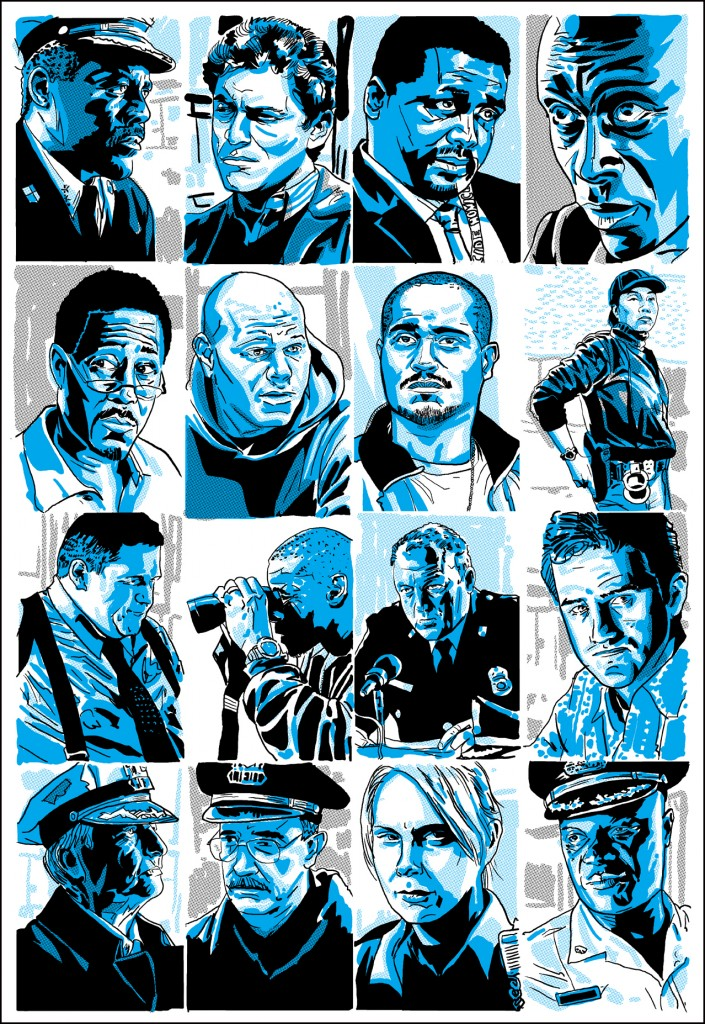 Tim Doyle Poster Art for THE WIRE — GeekTyrant
