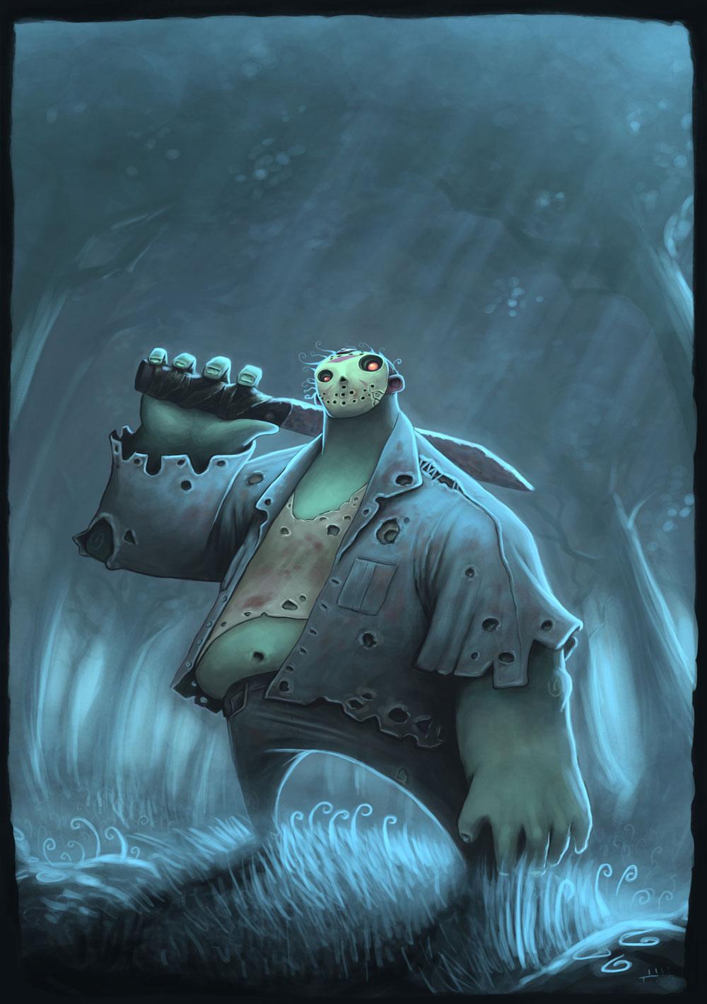 Fun Cartoon Style Series Of Classic Horror Movie Monster Art Geektyrant