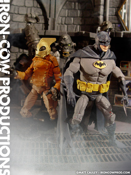 BATMAN and ROCKETEER Custom Toys in the HELLBOY Style of ...