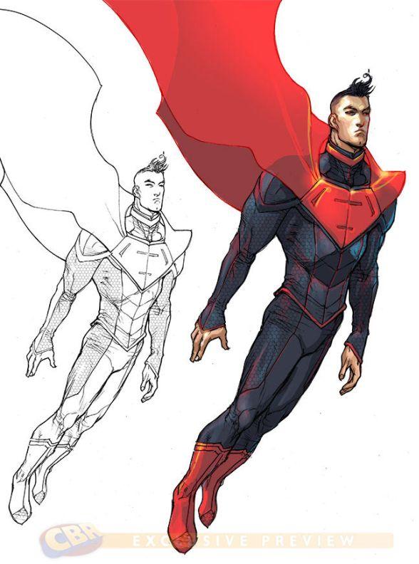 Character Design Hero : Dc comics justice league superhero character