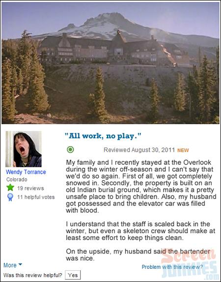 If Movie Hotels Were Reviewed On Trip Advisor Geektyrant