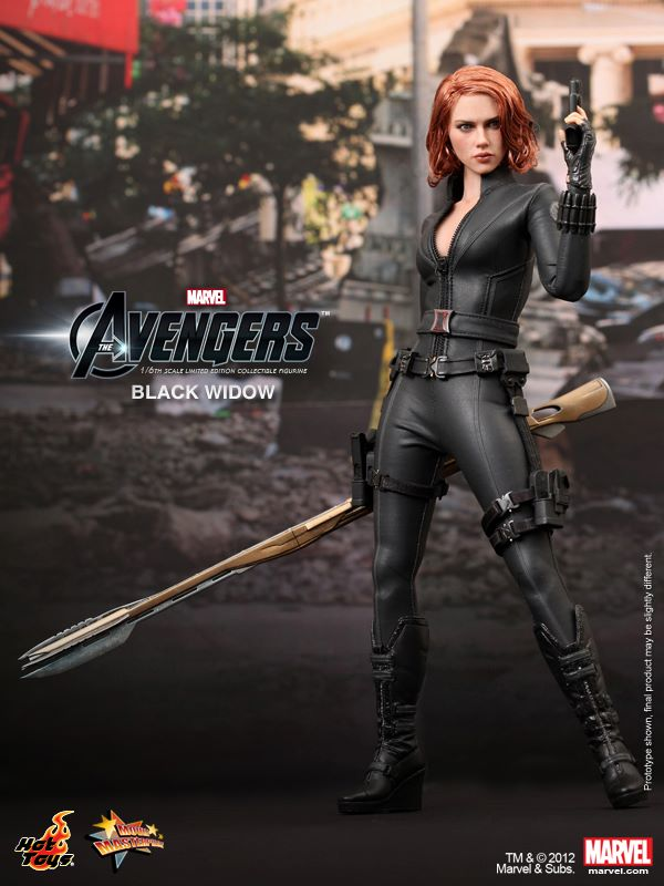 THE AVENGERS - Hot Toys BLACK WIDOW Collectible Action ...