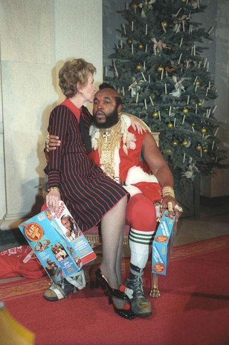 Christmas Awesomeness With Mr T And Nancy Reagan 25