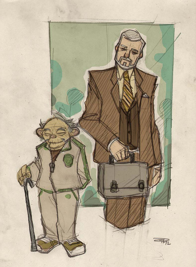 Yoda Character Design : Star wars characters re designed as s high schoolers