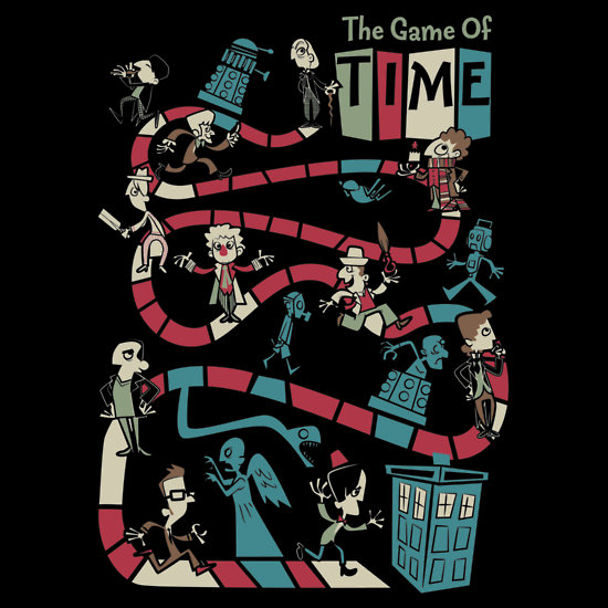 doctor who the game of time t shirt design geektyrant. Black Bedroom Furniture Sets. Home Design Ideas