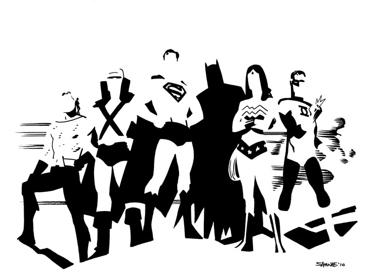Great collection of minimalist superhero art