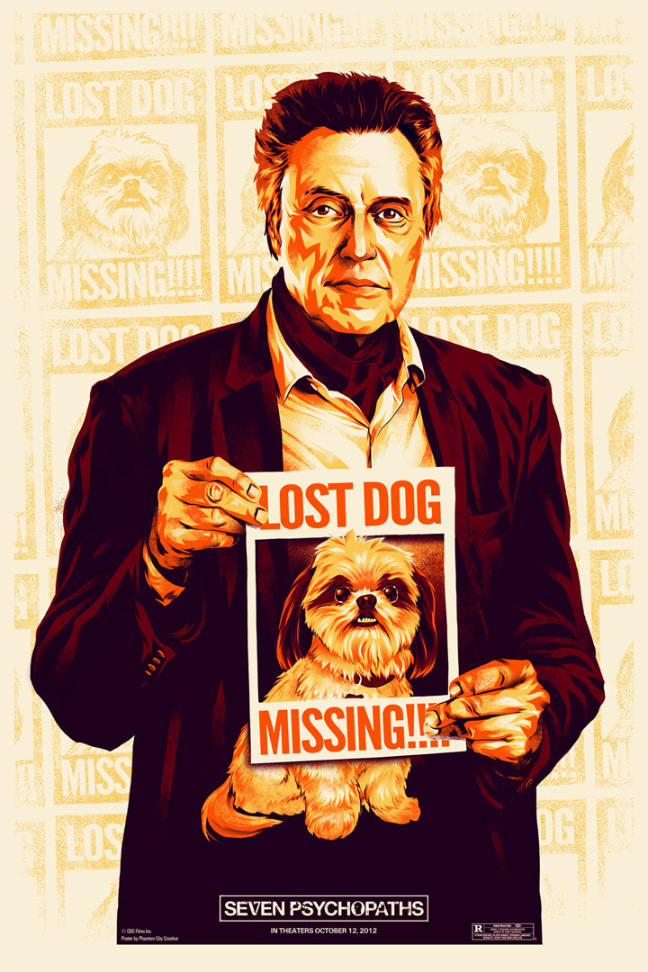 martin hilarious looking comedy seven psychopaths opens today and weu0027ve got a some cool poster art to celebrate the film stars colin farrell