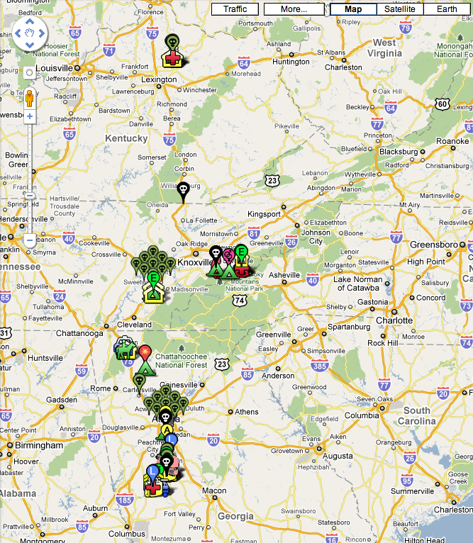 THE WALKING DEAD Google Map Guide — GeekTyrant on