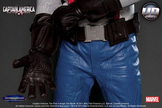 Captain America Leather Replica Motorcycle Suit Geektyrant