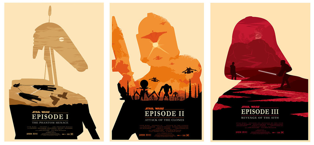 Three New STAR WARS Poster Designs for Episodes 1-3 ...