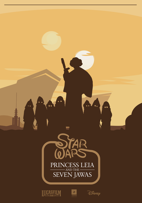 Princess Leia and The Seven Jawas - Star Wars Fan Art ...