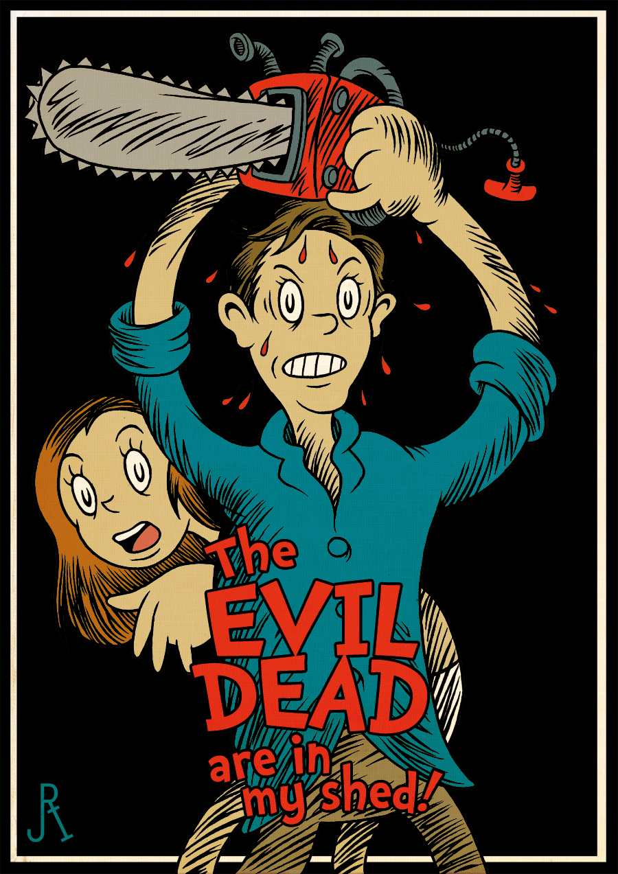 Evil Dead Dr Seuss Book Art Quot The Evil Dead Are In My