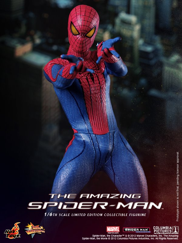 the amazing spiderman hot toys collectible action
