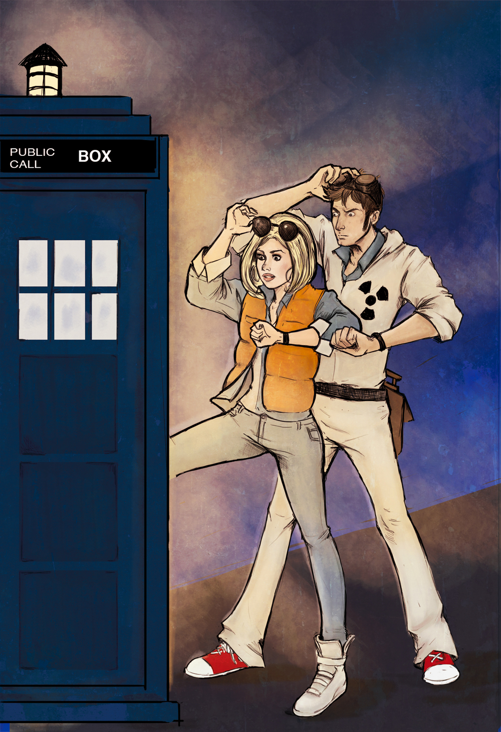 Geek Art Back To The Future And Doctor Who Mashup Back