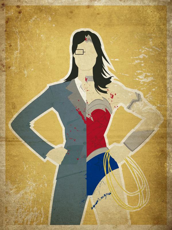 female superhero alterego character art � geektyrant