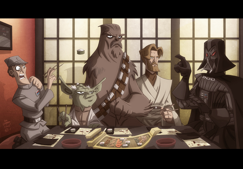 The piece is called Star Wars Star Wars Characters Art