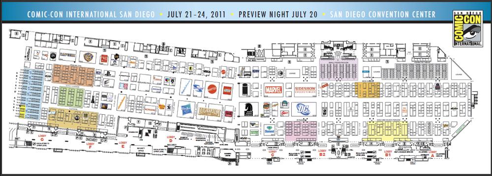 Comic Con 2011: Convention Center Exhibitor Floor Map — GeekTyrant