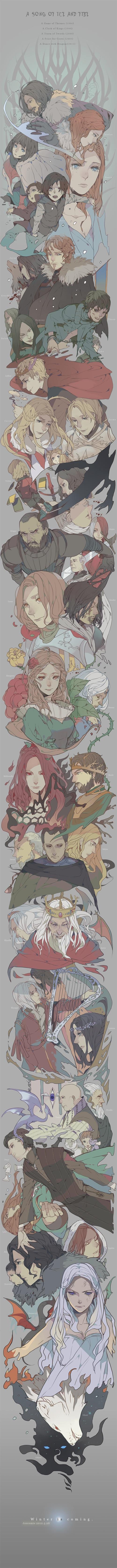 Epic GAME OF THRONES Anime Style Scroll Art u2014 GeekTyrant