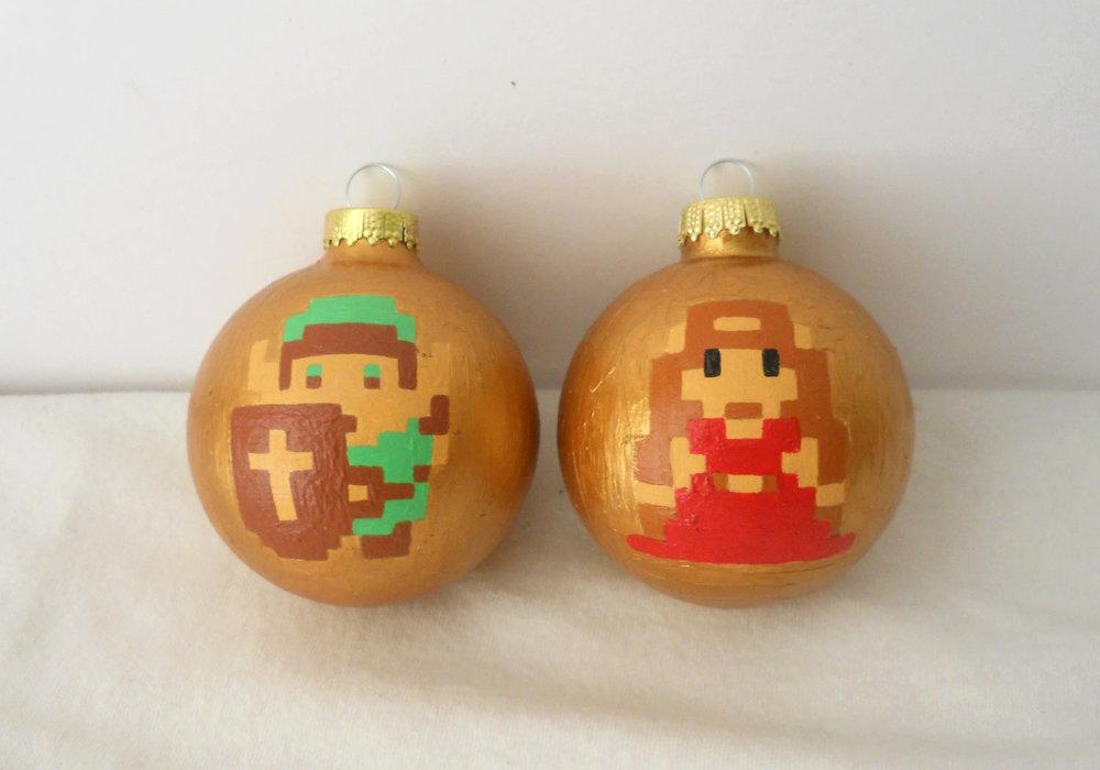 Holiday Geekery  Link and Zelda Christmas Tree Ornaments  GeekTyrant